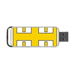 Jerusalem Cross Portable USB Flash (One Side)