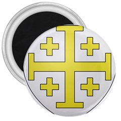 The Arms of the Kingdom of Jerusalem  3  Magnets