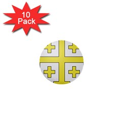 The Arms of the Kingdom of Jerusalem  1  Mini Buttons (10 pack)