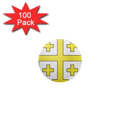 The Arms of the Kingdom of Jerusalem  1  Mini Magnets (100 pack)