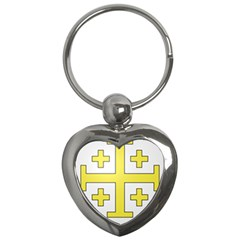 The Arms of the Kingdom of Jerusalem  Key Chains (Heart)
