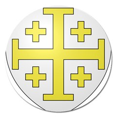 The Arms of the Kingdom of Jerusalem  Magnet 5  (Round)