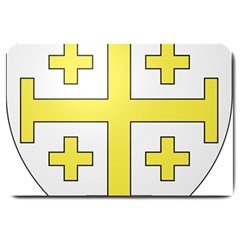 The Arms of the Kingdom of Jerusalem  Large Doormat