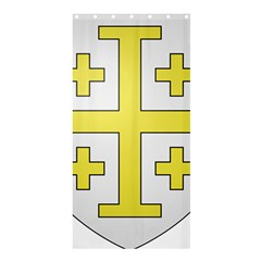 The Arms of the Kingdom of Jerusalem  Shower Curtain 36  x 72  (Stall)