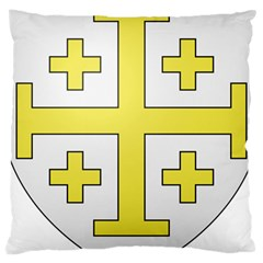 The Arms of the Kingdom of Jerusalem  Large Cushion Case (Two Sides)