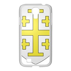 The Arms of the Kingdom of Jerusalem  Samsung GALAXY S4 I9500/ I9505 Case (White)