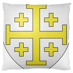 The Arms of the Kingdom of Jerusalem  Standard Flano Cushion Case (Two Sides)