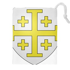 The Arms of the Kingdom of Jerusalem  Drawstring Pouches (XXL)