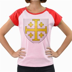 The Arms of the Kingdom of Jerusalem Women s Cap Sleeve T-Shirt