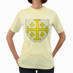The Arms of the Kingdom of Jerusalem Women s Yellow T-Shirt