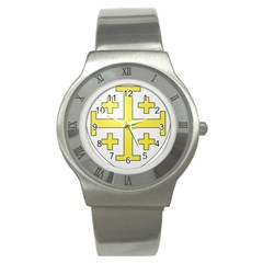 The Arms of the Kingdom of Jerusalem Stainless Steel Watch