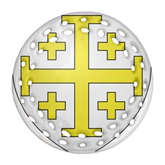 The Arms Of The Kingdom Of Jerusalem Ornament (round Filigree)