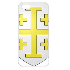 The Arms of the Kingdom of Jerusalem Apple iPhone 5 Seamless Case (White)