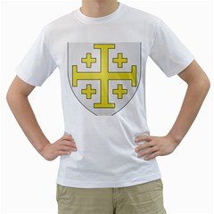 The Arms of the Kingdom of Jerusalem Men s T-Shirt (White)