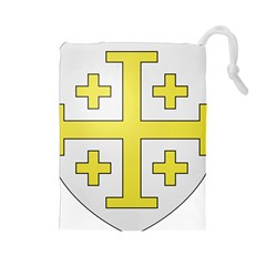 The Arms of the Kingdom of Jerusalem Drawstring Pouches (Large)