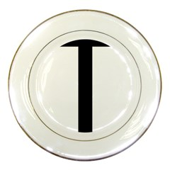 Anchored Cross  Porcelain Plates
