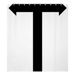 Anchored Cross  Shower Curtain 66  x 72  (Large)