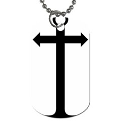 Anchored Cross Dog Tag (One Side)