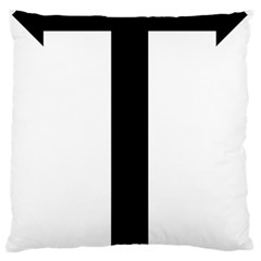 Anchored Cross Large Flano Cushion Case (One Side)