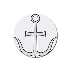 Anchored Cross  Rubber Coaster (Round)
