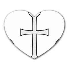 Anchored Cross  Heart Mousepads