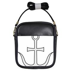 Anchored Cross  Girls Sling Bags