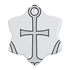 Anchored Cross  Snowflake Ornament (Two Sides)