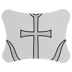 Anchored Cross  Jigsaw Puzzle Photo Stand (Bow)