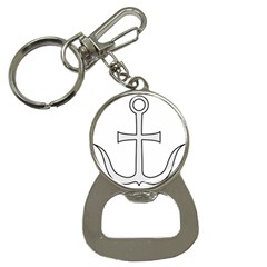 Anchored Cross Button Necklaces