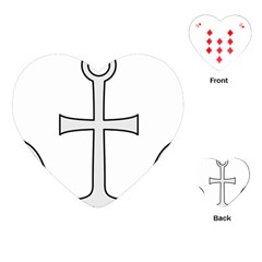 Anchored Cross Playing Cards (Heart)