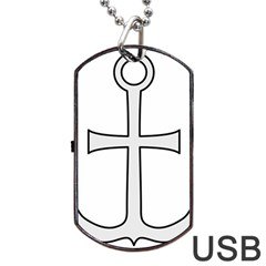 Anchored Cross Dog Tag USB Flash (Two Sides)