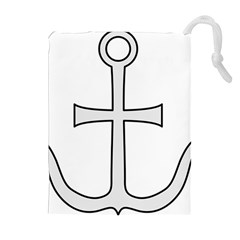 Anchored Cross Drawstring Pouches (Extra Large)