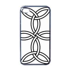 Carolingian cross Apple iPhone 4 Case (Black)