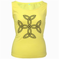 Carolingian Cross Women s Yellow Tank Top