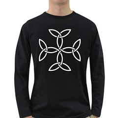 Carolingian Cross Long Sleeve Dark T-Shirts