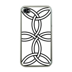 Carolingian Cross Apple iPhone 4 Case (Clear)