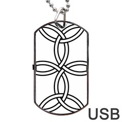 Carolingian Cross Dog Tag USB Flash (Two Sides)
