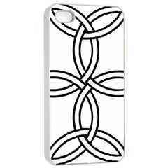 Carolingian Cross Apple iPhone 4/4s Seamless Case (White)