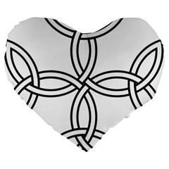 Carolingian Cross Large 19  Premium Heart Shape Cushions