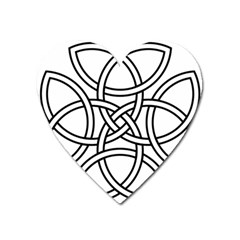 Carolingian Cross Heart Magnet