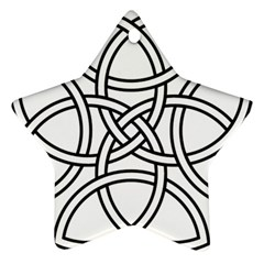 Carolingian Cross Star Ornament (Two Sides)