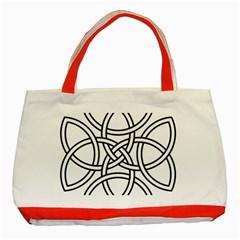Carolingian Cross Classic Tote Bag (Red)