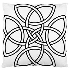 Carolingian Cross Large Flano Cushion Case (One Side)