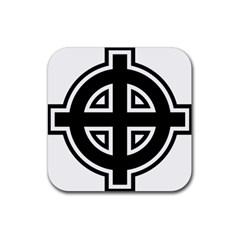 Celtic Cross Rubber Coaster (Square)