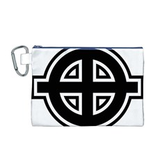 Celtic Cross Canvas Cosmetic Bag (M)