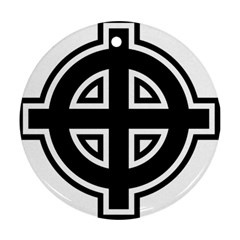 Celtic Cross Round Ornament (Two Sides)