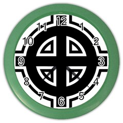 Celtic Cross Color Wall Clocks