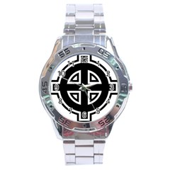 Celtic Cross Stainless Steel Analogue Watch
