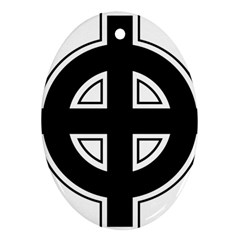 Celtic Cross Oval Ornament (Two Sides)