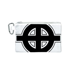 Celtic Cross Canvas Cosmetic Bag (S)